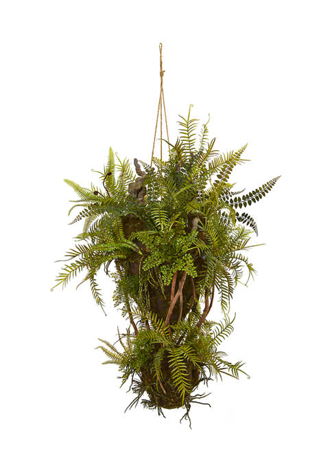 Nearly Natural Assorted Forest Foliage and Fern Hanging