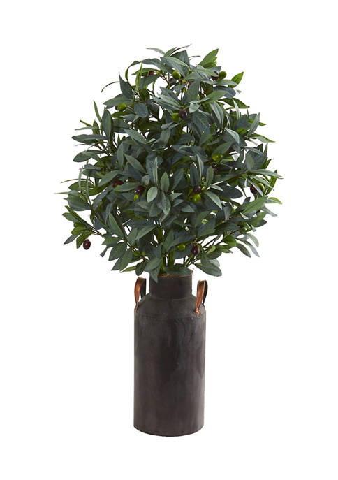 Nearly Natural Olive with Berries Plant in Decorative