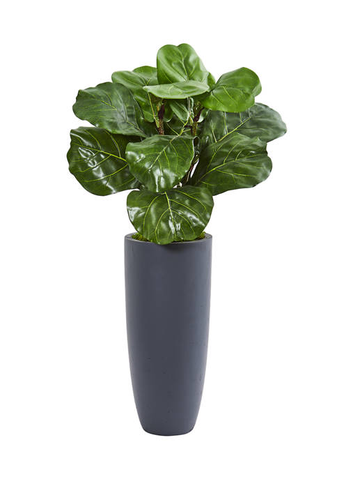 Nearly Natural Fiddle Leaf Plant in Planter