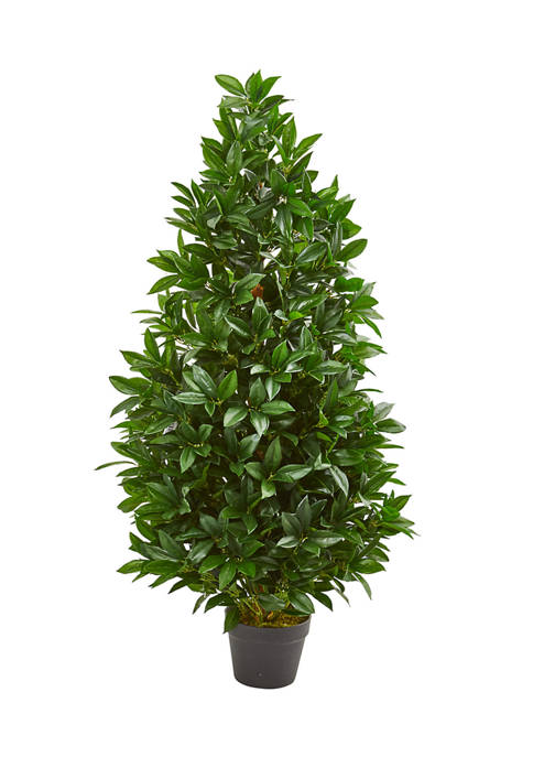 Nearly Natural Bay Leaf Topiary Tree Indoor/Outdoor