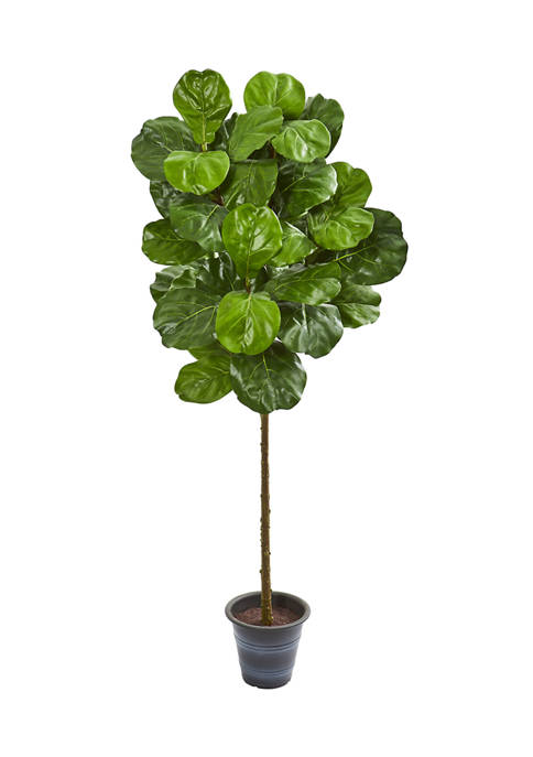Nearly Natural Fiddle Leaf Tree with Decorative Planter