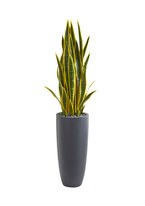 Nearly Natural Sansevieria Plant in Planter