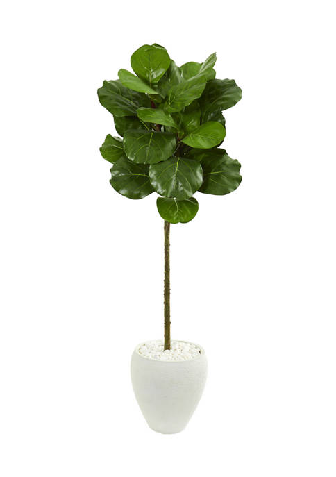 Nearly Natural Fiddle Leaf Tree in Planter