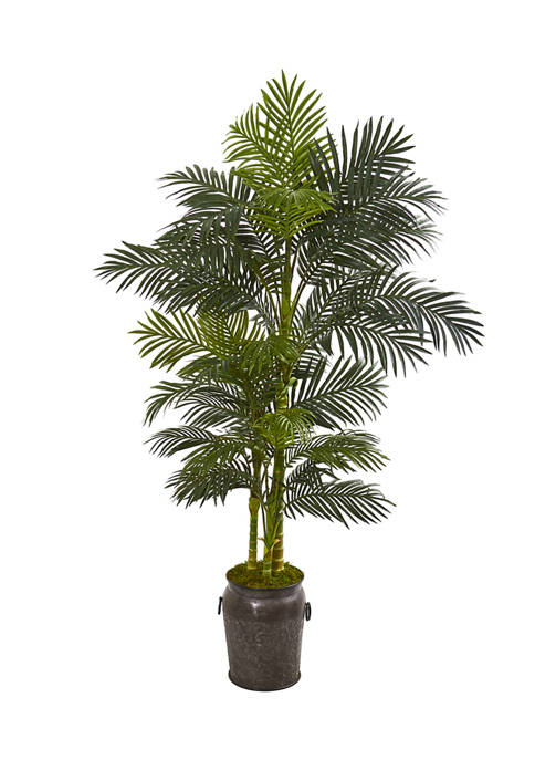 Nearly Natural Golden Cane Palm Tree in Decorative