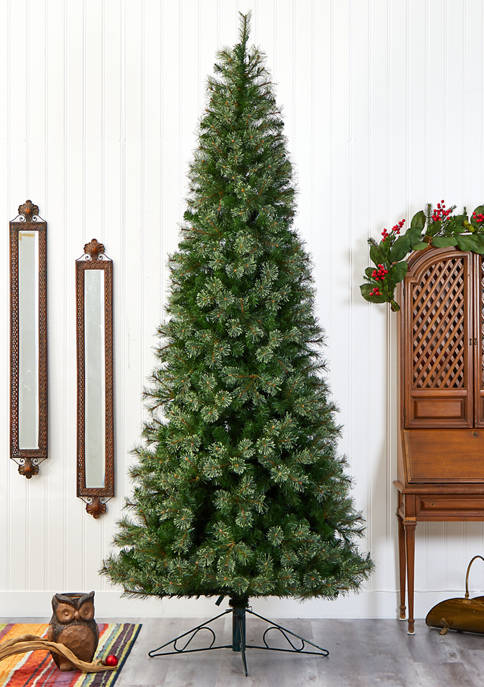 Nearly Natural Cashmere Slim Christmas Tree