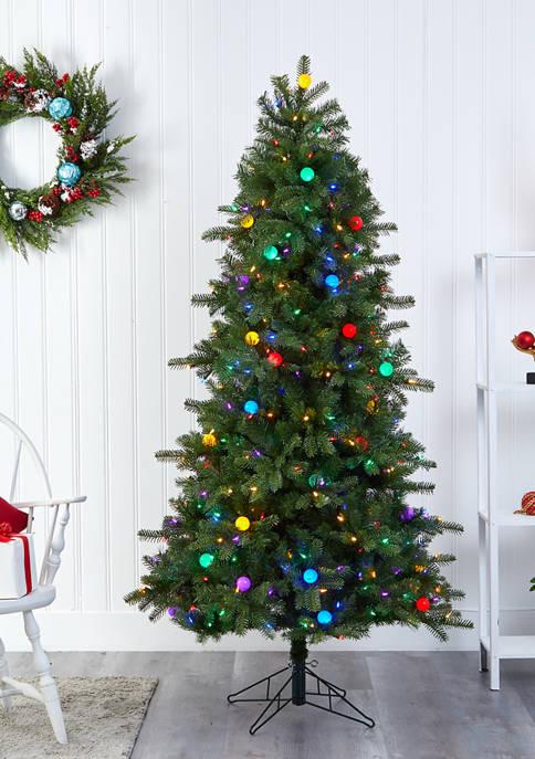 Nearly Natural Montana Mountain Fir Christmas Tree