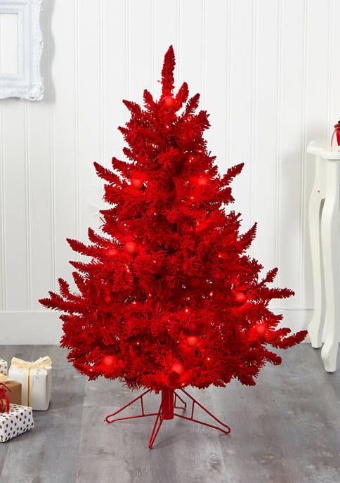 Nearly Natural Flocked Fraser Fir Christmas Tree with
