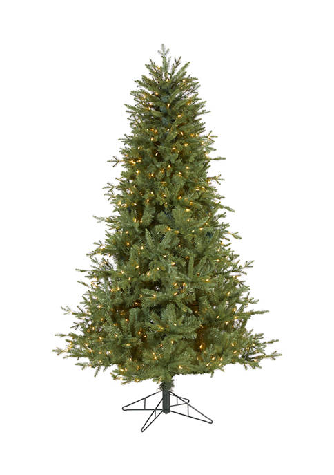 6.5 Foot New Hampshire Spruce Artificial Christmas Tree with 500 Warm White Lights and 1074 Bendable Branches