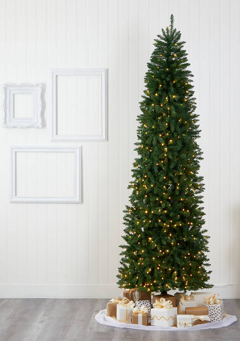 Nearly Natural Slim Green Mountain Pine Christmas Tree