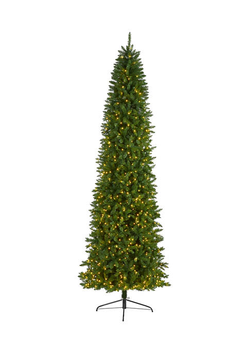 Nearly Natural 10 Foot Slim Green Mountain Pine