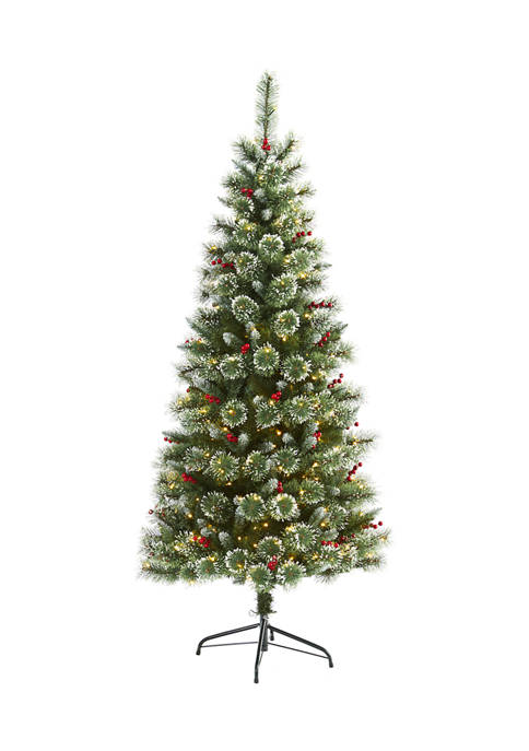 Nearly Natural 6 Foot Frosted Swiss Pine Artificial