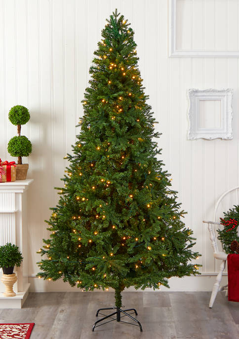 Nearly Natural Vermont Fir Christmas Tree with Clear