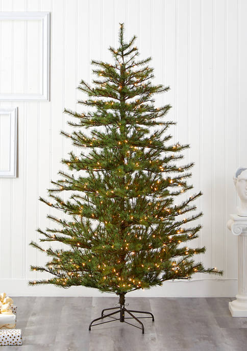 Nearly Natural Vancouver Mountain Pine Christmas Tree with