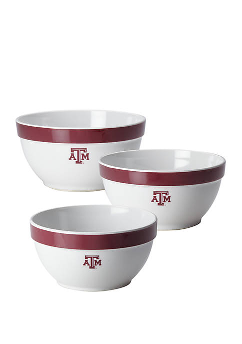College Kitchen Collection Texas A&M University Party Bowls,