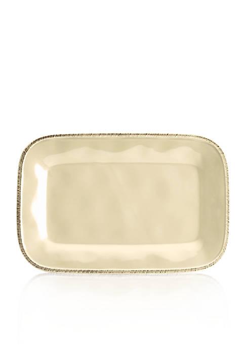 Rachael Ray Cucina Rectangular Stoneware Platter