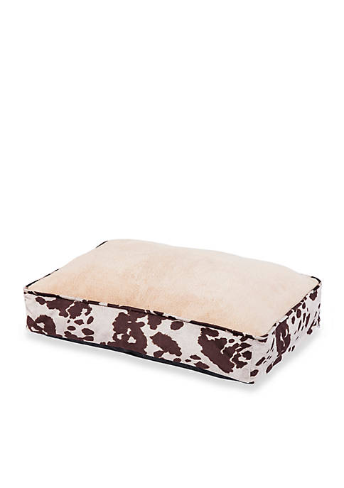 Cowhide Pattern Dog Bed