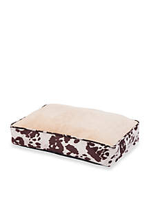 HiEnd Accents Cowhide Pattern Dog Bed
