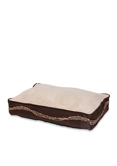 HiEnd Accents Embroidered Barbwire Dog Bed