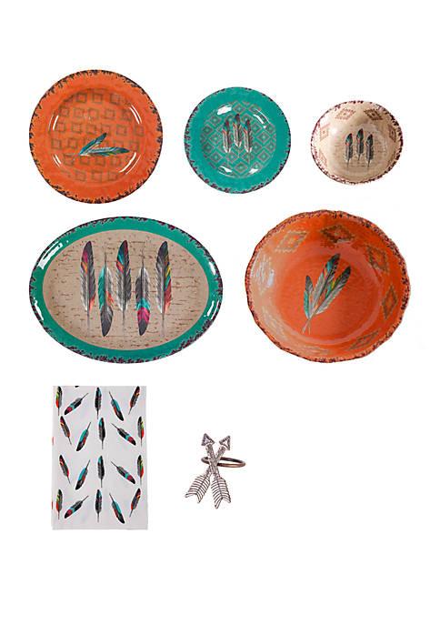 Feather Melamine 25 Piece Set