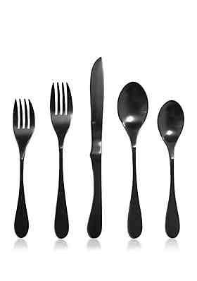 e138ba37c7a4 Knork® Set of 5 Black Titanium Flatware ...