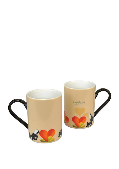 BergHOFF® Lover by Lover Coffee Mug Set- Beige
