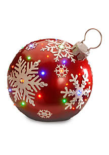National Tree Company® Jeweled Ornament With Snowflake Design and LED lights
