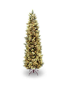 carolina pine slim tree with clear lights - White Christmas Trees On Sale