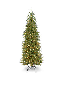 10 ft Dunhill Fir Slim Tree with Clear Lights