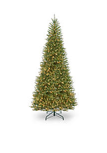 12-Ft. Dunhill Fir Slim Tree With Clear Lights