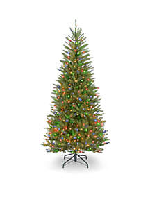 National Tree Company® Dunhill Fir Slim Tree with Multicolor Lights