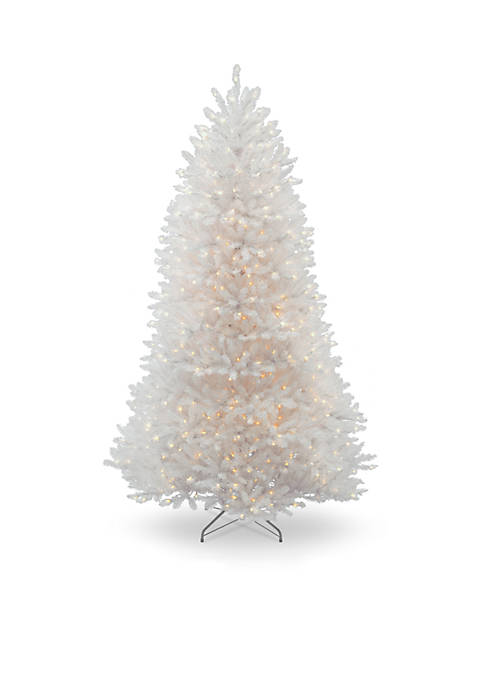 9 Foot Dunhill White Fir Tree with Clear Lights