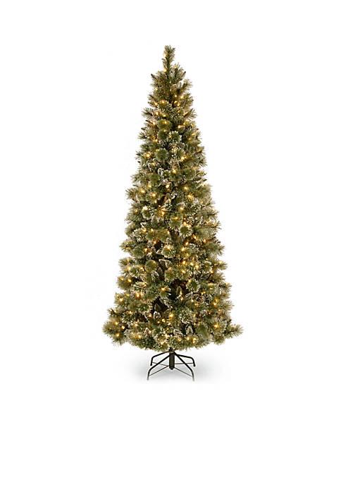 7.5-ft. Glittery Bristle Pine Slim Hinged Tree