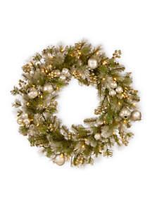 Glittery Pomegranate Pine Wreath