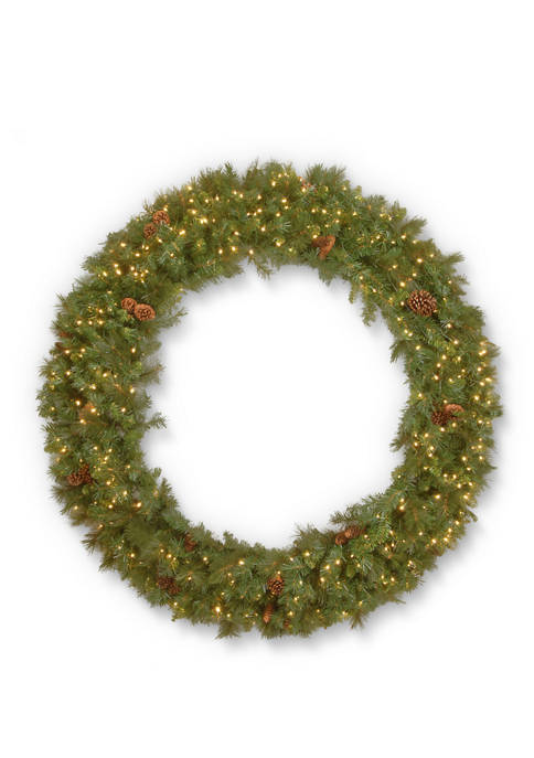 48 Foot Garwood Spruce Wreath with Warm White LED Lights
