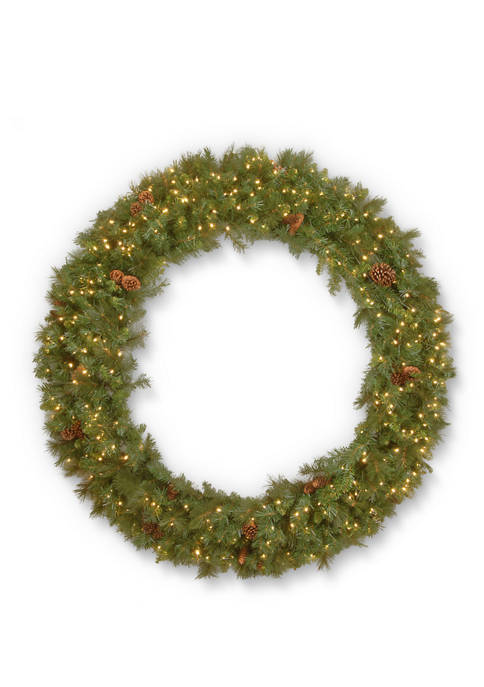 72 Foot Garwood Spruce Wreath with Warm White LED Lights