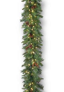 9-ft. Garwood Spruce Garland with LED Lights