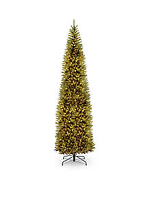 12 ft Kingswood Fir Pencil Tree With Clear Lights