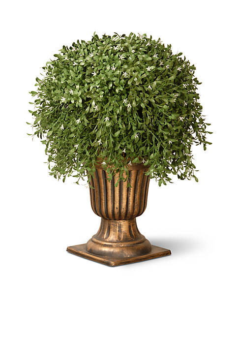 National Tree Company® Argente Plant with Gold Urn