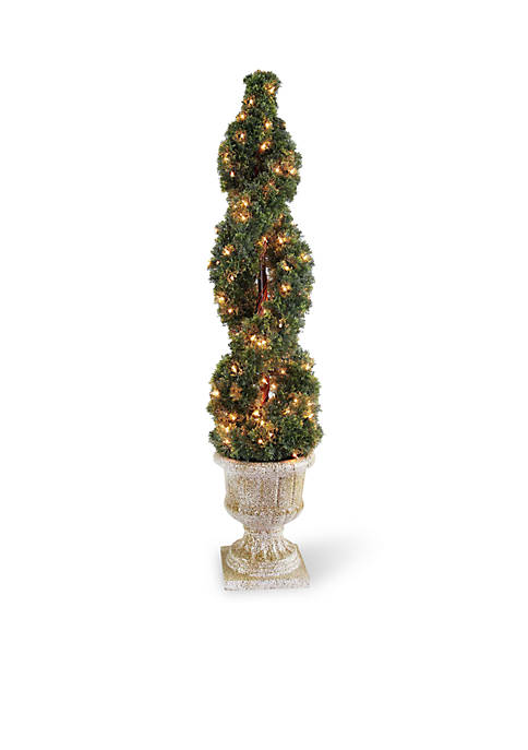 National Tree Company® Double Cedar Spiral Tree With
