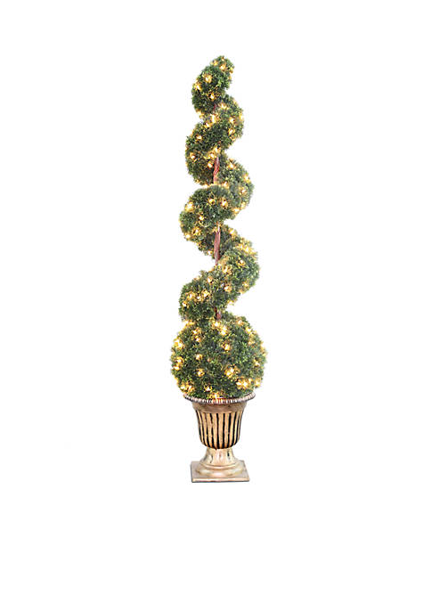 National Tree Company® Clear Spiral Tree With Ball