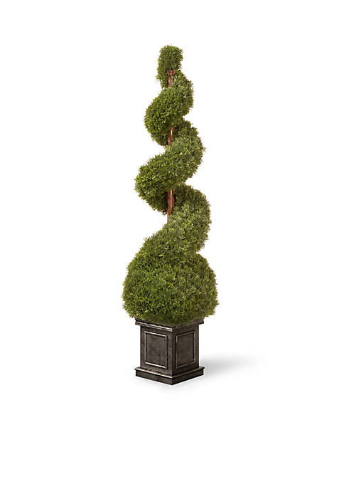 National Tree Company® Cedar Spiral Tree With Ball