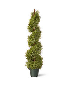 National Tree Company® Juniper Slim Spiral  w/ Green Pot