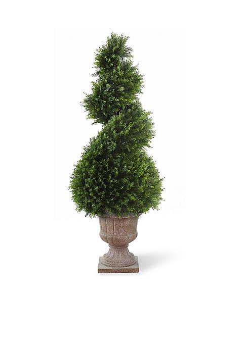 Juniper Spiral Tree With Decorative Urn