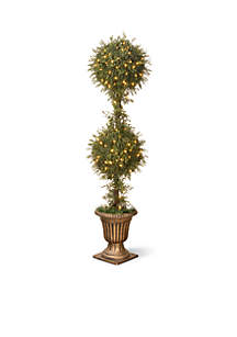 Mini Tea Leaf Topiary In Urn with 200 Clear Lights