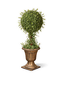 Mini Tea Leaf 1-Ball Topiary In Urn