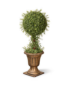 National Tree Company® Mini Tea Leaf 1-Ball Topiary In Urn
