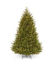 6.5-ft. Natural Fraser Medium Fir Hinged Tree with Clear Lights
