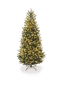 10 ft Natural Fraser Slim Fir Hinged Tree with Clear Lights