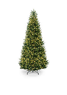 12-ft. Natural Fraser Slim Fir Hinged Tree with Clear Lights