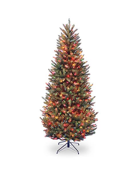 6.5-ft. Natural Fraser Slim Fir Tree with Multicolor Lights